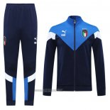 Ensemble Survetement Veste Italie 20-2021 Bleu