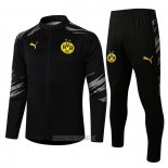 Ensemble Survetement Veste Dortmund 2020-2021 Noir