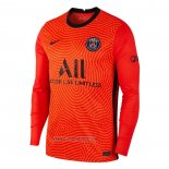 Maillot Paris Saint-Germain Gardien Manches Longues 2020-2021 Orange