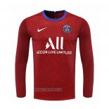 Maillot Paris Saint-Germain Gardien Manches Longues 2020-2021 Rouge