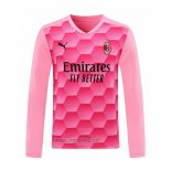 Maillot Milan AC Gardien Manches Longues 2020-2021 Rosa