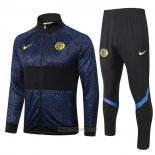 Ensemble Survetement Veste Inter Milan 2020-2021 Bleu