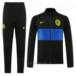 Ensemble Survetement Veste Inter Milan 2020-2021 Noir
