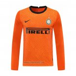 Maillot Inter Milan Gardien Manches Longues 2020-2021 Orange