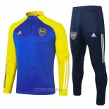 Ensemble Survetement Sweat Boca Juniors 2020-2021 Bleu