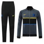 Ensemble Survetement Veste Inter Milan 2020-2021 Gris
